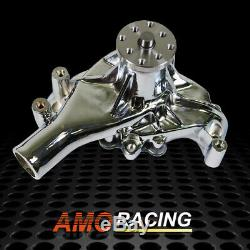 High Volume Long Water Chromed Pump Fit Small Block Chevy SBC 350 383