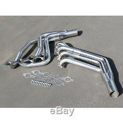 Ls Swap Long-tube Stainless Steel Header Exhaust For 67-74 Chevy Sbc Ls1-ls6 Lsx