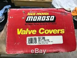 MOROSO Chrome Plated Steel Valve Covers DEEP TALL Small Block Chevy