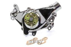 MR. GASKET SBC Long Water Pump Alm. WithChrome Finish P/N 7013G