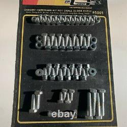 Mr. Gasket #5001 Chrome Hardware Kit for Small Block CHEVY SBC Bolts & Washers