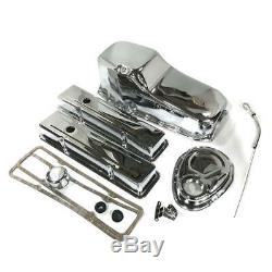 Mr Gasket Engine Dress Up Kit 9834-OP Chrome Steel for Chevy 262-400 SBC
