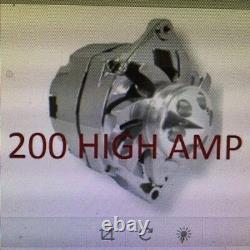 NEW CHROME Fits CHEVY GM GM SBC BBC CHEVY 1 WIRE ALTERNATOR HIGH OUTPUT 200AMP