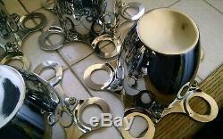 NOS SET Cal Custom Chrome Center Caps For Steel Wheels Hot Rod Rat Kustom Camaro