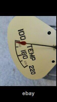 NOS Stewart Warner 5 inch QUAD gauge cluster temp gauge fire truck wrecker scta