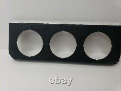 NOS Vintage Stewart Warner Chrome 3 Hole Under Dash Gauge Panel 2 1/8 811653-D