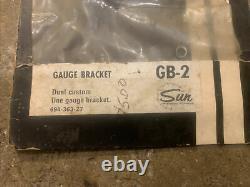 NOS Vintage Sun Guage Accessories Braket Kit Gb-2 Chrome Gasser Hot Rat Rod Drag