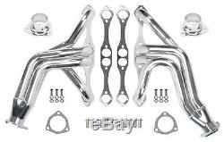 New 55-57 Chevy, 55-82 Corvette Chassis Headers, Sbc 262-400, Chrome Plated, Tri-5