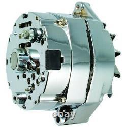 New Alternator Chrome 10SI 100 AMP ONE WIRE BBC SBC CHEVY High Output 7127-SE