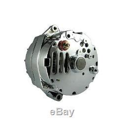New Alternator Chrome 65 Amp One 1-wire 10si Sbc Bbc Chevy Gm 7127se-c-150