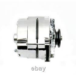 New Alternator Chrome BBC/SBC fits Chevy GM 110AMP 3-Wire HO 7127-105C 75-85