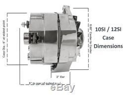New Alternator Chrome Bbc Sbc Chevy 110 Amp 3 Wire Ho 7127-105c 240-203-3dc 10si