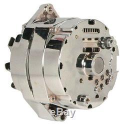 New Chrome Bbc Sbc Chevy Alternator 110 Amp 3 Wire Ho