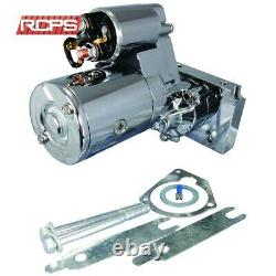 New High Torque Chrome Mini Starter For Chevy Sbc Bbc 153/168 Tooth