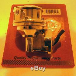 New SBC Chevy High Volume Replacement Chrome Mechanical Fuel Pump 305 350 400
