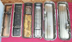 Old Gen 1 Small & Big Block Chevy Chrome Valve Covers SBC BBC Chevrolet Pair of