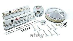 PROFORM Small Block Chevy Chevy Logo Chrome Engine Dress Up Kit P/N 141-900