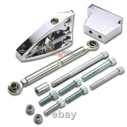 Polished Aluminum Air Conditioner Bracket For 302/327 Chevy Sbc Short Water Pump