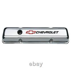 Proform 141-899 Valve Cover Chevrolet & Bowtie Emblem S/B Chro