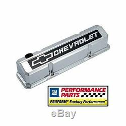 Proform GM Licensed Slant Edge Valve Covers 141-922 Chevy SBC 283 305 350 400