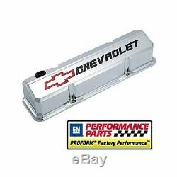 Proform GM Licensed Slant Edge Valve Covers 141-930 Chevy SBC 283 305 350 400