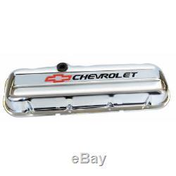 Proform Valve Cover Set 141-812 Bowtie Chrome Steel for Chevy 265-400 SBC
