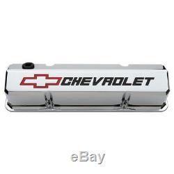 Proform Valve Cover Set 141-930 CHEVROLET Bowtie Tall Chrome Aluminum for SBC