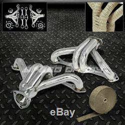 Racing Manifold Header/exhaust+heat Wrap Chevrolet Chevy Small Block Hugger Sbc