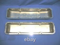 Rare NOS 1960's JAPAN Chrome Aluminum Finned Valve Covers Chevy 327 350 Day 2