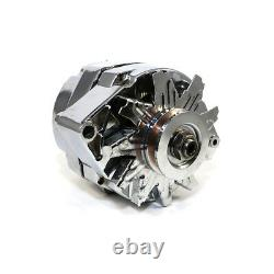 Rebuilt GM Olds Delco Style Chrome 1 One Wire SBC Chevy Alternator 110 AMP