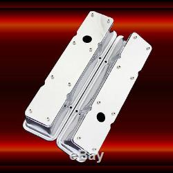 SBC 2 Piece Valve Covers for Small Block Chevy Engines Chrome 327 350 383 400