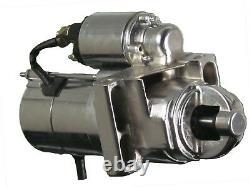 SBC BBC 305 350 454 Chrome Chevy Staggered Bolt Mini Starter 3HP SR8552N