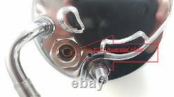 SBC & BBC Chevy Chrome Saginaw Key Way Style Power Steering Pump 283 350 454