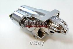 SBC BBC Chevy Delco Chrome Aluminum High Torque Mini Starter 168 2.4HP Reduction