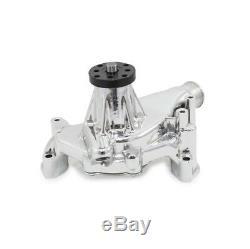 SBC CHEVY 327, 350, 383, 400, 406 LONG CHROME ALUMINUM WATER PUMP Camaro