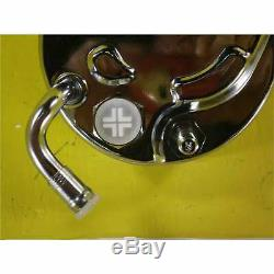 SBC Chevy A-Can Style Chrome Saginaw Style Power Steering Pump Bolt On Pulley