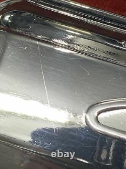 SBC Chevy CHROME GM Stamped Script Valve Covers 283 327 350 Original Vtg Used