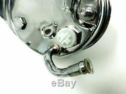 SBC Chevy Chrome Saginaw Style Power Steering Pump Bolt On Pulley A-Can Style