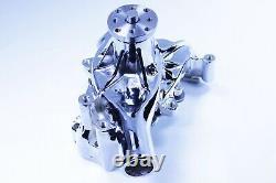 SBC Chevy Chromed Long Water Pump High Volume 283 327 350 383 400 LWP