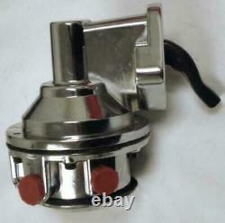 SBC Chevy HV Replacement Chrome Mechanical Fuel Pump 305 350 400 V8