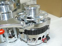 SBC Chevy Small Block 262-400 Serpentine Front Drive System Chrome/Polished