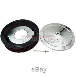 SBC Small Block Chevy Chrome 383 Logo Engine Dress Up Kit Washable Air Cleaner