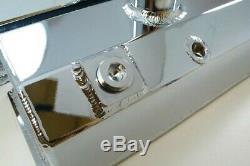SBC Small Block Chevy Chrome Aluminum Fabricated Tube Valve Cover Circle Track