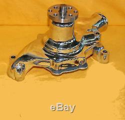 SBC Small Block Chevy Short Water Pump CHROME High Volume 350 383