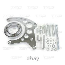 SBC Small Block Long Water Pump Alternator Bracket for Chevrolet, Chrome Gilmer