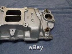 SBC Weiand Aluminum intake manifold 7502 small block chevy 283 327 350
