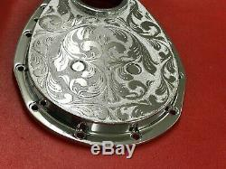 SB Chevy Chrome Engraved Timing Chain Cover 305 350 383 400 SBC Small Block