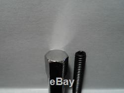 SB Chevy SBC 283 327 350 383 Chrome Oil Pan Bolt Set Bolts Kit Mini Nut Stud