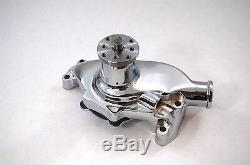 SB Chevy SBC 283 327 350 High Volume Aluminum Water Pump Short Style Chrome