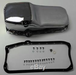SB Chevy SBC Chrome Oil Pan With Bolts & Gaskets 4qt 283 327 307 350 400 Hot Rod